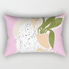 70s polka bangs Rectangular Pillow