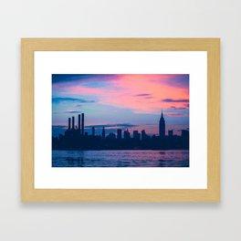 Sunset New York Framed Art Print