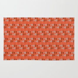 Barbecue Thongs - BBQ Doodle Pattern Rug