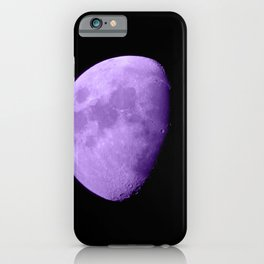 4K Dark Side of the Moon Violet iPhone Case