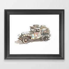 Dustbowl Truck Framed Art Print