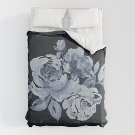 Country Rose on Indigo Comforters