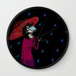 Rain Face Phone Wall Clock