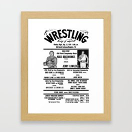 #3 Memphis Wrestling Window Card Framed Art Print