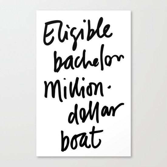 Eligible Bachelor (invert) Canvas Print