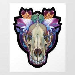 Wolf Skull Art Print