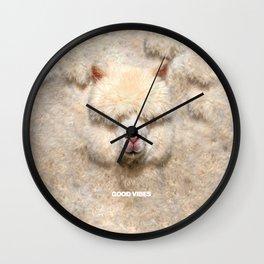 GOOD VIBES ALPACA Wall Clock
