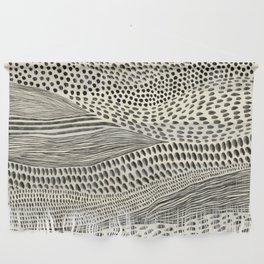 Hand Drawn Patterned Abstract II Wall Hanging