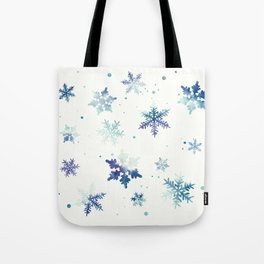 MIDNIGHT SNOWFLAKE PATTERN Tote Bag