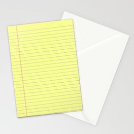 Yellow Legal Pad Stationery Cards