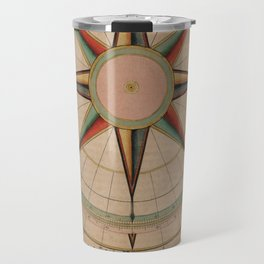 Vintage Compass Rose Diagram (1664) Travel Mug
