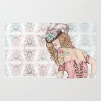 marie antoinette Area & Throw Rugs featuring Marie Antoinette by Frances Louw