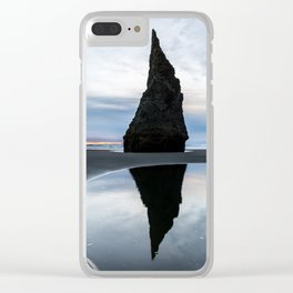 Sea Stack Reflection Clear iPhone Case