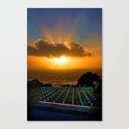 Cabrillo National Cemetery at Sunset Canvas Print