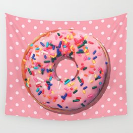 Pink Donut Wall Tapestry