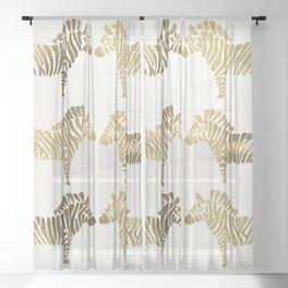 Golden Zebras Sheer Curtain