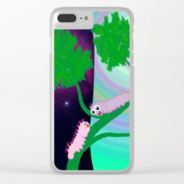 Two Worms and Love Clear iPhone Case
