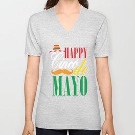 Happy Cinco De Mayo Funny Celebration Shirt Unisex V-Neck