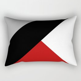 Black diagonal stripe with triangles Rectangular Pillow