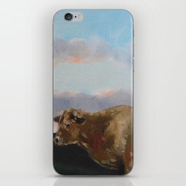 cow thinking about grass iPhone Skin
