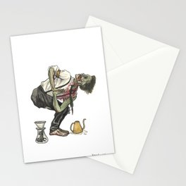 Twisted Chair Barista Zombie Stationery Cards