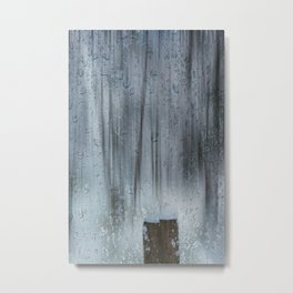 Snow and raindrops Metal Print