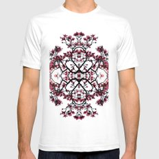 magnolia silhouette Mens Fitted Tee SMALL White