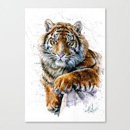 Tiger watercolor Canvas Print