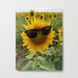 Summer Ready Sunflower Metal Print