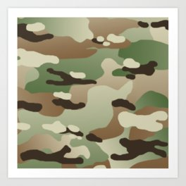 Military Camouflage: Woodland Art Print
