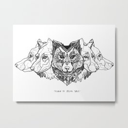 Learn To Speak Wolf Metal Print