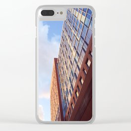 Buildings in the evening Clear iPhone Case