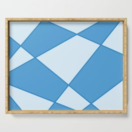 Geometric abstract - blue. Serving Tray