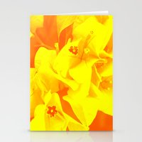 ali gulec Stationery Cards featuring Ali orange by Keren Shiker