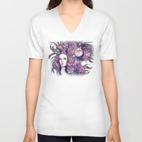 the moon V-neck T-shirts featuring moon by Beth Jorgensen