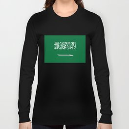 National flag of  the Kingdom of Saudi Arabia - Authentic version to scale and color Long Sleeve T-shirt