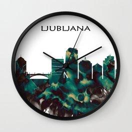 Ljubljana Skyline Wall Clock