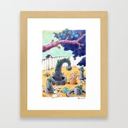 Tobias and Jube and Eyes Framed Art Print