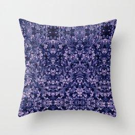 lavender and royal purple damask garden botanical pattern photography Throw Pillow