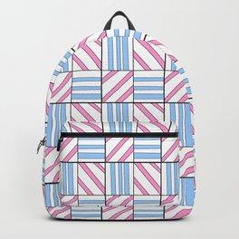 symetric tartan and gingham 6 -vichy, gingham,strip,square,geometric, sober,tartan Backpack