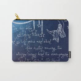 Blue Gardens and Stars Quote Carry-All Pouch