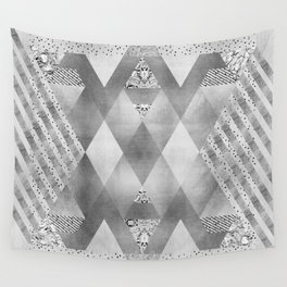 ETHNO Elegance in silver Wall Tapestry