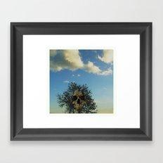 skull tree Framed Art Print