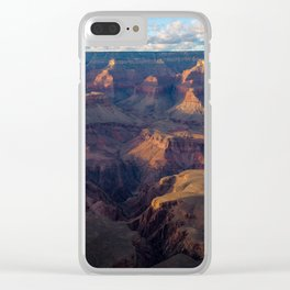 South Rim - Grand Canyon Illuminated in Evening Sunlight Clear iPhone Case