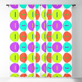 Round Buttons Blackout Curtain