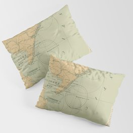 Vintage NJ, MD & Delaware Bay Lighthouse Map (1897) Pillow Sham