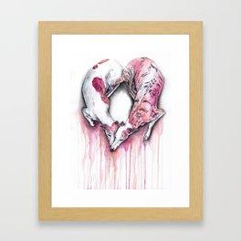 Heart Hounds Dog Art Framed Art Print