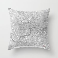 London Map Line Throw Pillow