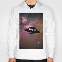 ufo Hoodies featuring UFO by Ace of Spades