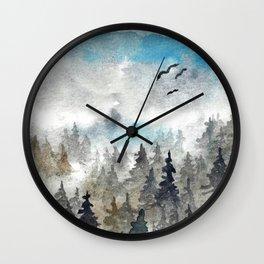 Landscape V: Soft Pines Wall Clock